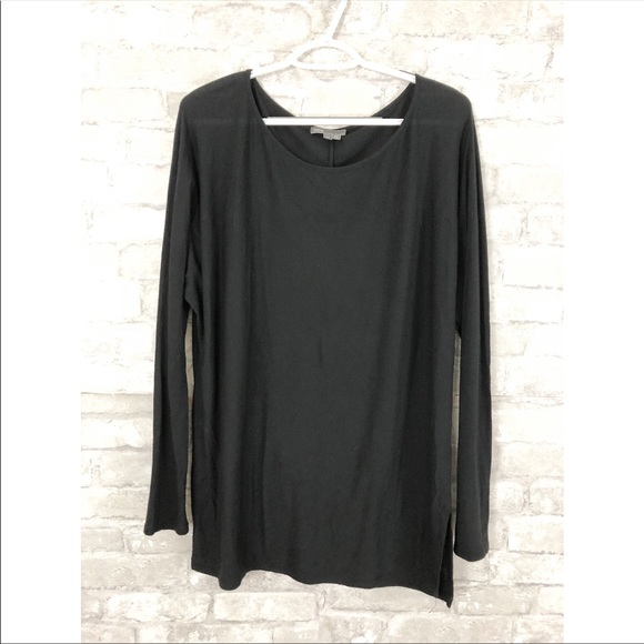 72241ed4fb Vince Tops | Black Scoop Neck Long Sleeve Top | Poshmark